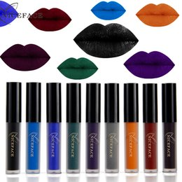 $enCountryForm.capitalKeyWord Australia - Fashion Halloween Makeup Liquid Lipsticks Long Lasting Pigment 9 Color Gothic Style Dark Red Blue Black Matte Lip Gloss Make Up#