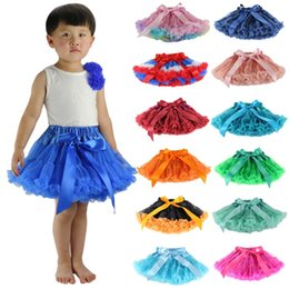 wholesale tutus Australia - Kids Designer Clothes Girls Tulle Skirts TUTU Dance Dress Fashion Ballet Skirts Princess Dress Kids Performance Dancewear 28 Colors YW4062