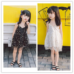 $enCountryForm.capitalKeyWord Australia - 2019 New Baby Girls Sequins Star suspender Vest Dress Toddle Summer Sleeveless Cotton Tulle Princess Dresses Kids cosplay boutique Clothing