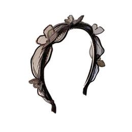 $enCountryForm.capitalKeyWord NZ - Korean three-dimensional lace butterfly black organza small incense band tooth hair clip hair hoop headband female