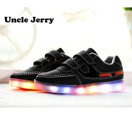 $enCountryForm.capitalKeyWord Australia - Unclejerry Kids Led Shoes Usb Chargering Light Up Sneakers For Boys Girls Glowing Casual Shoes Child Fashion Shoes Y190525