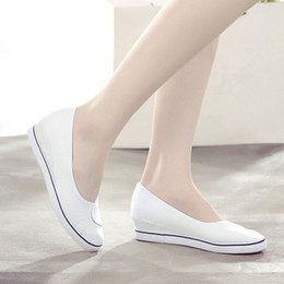 Cheap Canvas Slip Shoe Australia - Summer Shoes Woman Casual Canvas Pointed Toe Flats Women Slip-On Breathable Comfortable Adult Cheap New Arrival Footwear MM-304