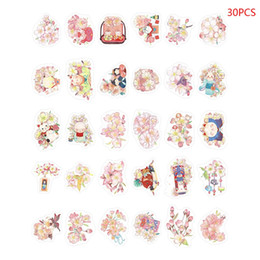 "$enCountryForm.capitalKeyWord Australia - Alien Postcard ""Sakura And Small Things"" 30 Hand-Painted And Wind Cute Cat Cherry Blossom Boxed Postcard Card Set"