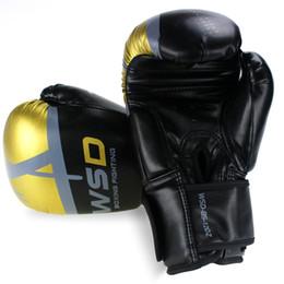 Free Muay Thai Gear Australia - Kick Boxing Gloves for Men Women PU Karate Muay Thai Guantes De Boxeo Free Fight MMA Sanda Training Adults Kids Equipment