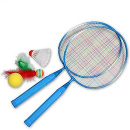 $enCountryForm.capitalKeyWord UK - 1 Pair Youth Children's Badminton Rackets Sports Cartoon Suit Toy for Children Baby