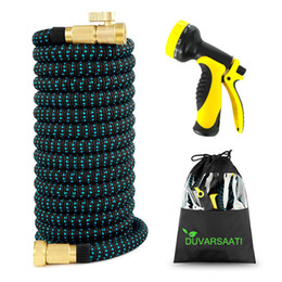 high pressure hose gun NZ - Expandable Garden Magic Hose Flexible Garden Water Hose High Pressure For Car Hose Pipe Plastic Hoses To Watering With Spray Gun T200530
