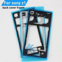 Xperia Z1 Housing NZ - Original New Replacement Housing Plastic Back Middle Frame Back Cover Frame For Sony Xperia Z1 L39H C6902