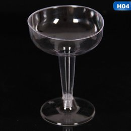 glasses disposable Australia - 6pcs bag Disposable Plastic Wine Glass Party Wedding Champagne Flute Goblet Cocktail Cup