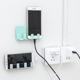 mobile phone racks Australia - Cellphone Mobile Phone Rack Shelf Wall Holder Sticky Stand Adhesive Charging Storage Phone Plug Organizer Bathroom Toothbrush