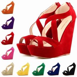 $enCountryForm.capitalKeyWord Australia - Chaussure Femme Fashion Women Cut Out Faux Suede Platform Pumps Peep Toe High Heels Wedge Shoes Sandals Size 35-42 D0083