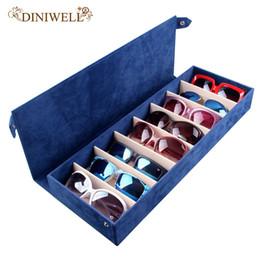 sunglasses display holders 2019 - wholesale 8 Slot Eyewear Stand Holder Sunglasses Glasses Storage Display Case Jewelry Tray Storage Box Organizer discoun