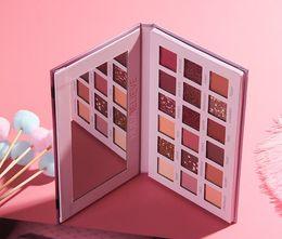 $enCountryForm.capitalKeyWord Australia - Glitter eyeshadow Desert pink Rose 18 Color Pearlescent shimmer Matte Eyeshadow Palette Eye shadow shade woman makeup