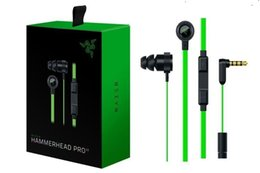 headphone v2 Canada - 2020 Razer Hammerhead Pro V2 Headphone in ear earphone With Microphone In Ear Gaming headsets Noise Isolation Stereo Bass 3.5mm With Package