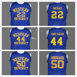 ingrosso pullover occidentale-Western University Blue Chips Film Shaq Neon Boudeaux Tony The Point Shaver Anfernee Hardaway Butch Mcrae pullover di pallacanestro maschile