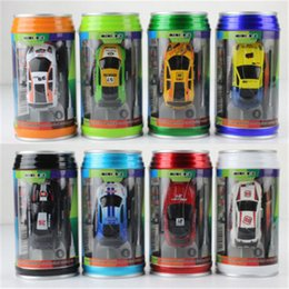 Rc Car Racer Australia - Free Epacket 8 color Mini-Racer Remote Control Car Coke Can Mini RC Radio Remote Control Micro Racing 1:64 Car D0053