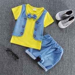 $enCountryForm.capitalKeyWord Australia - good quality Baby Clothing Sets Summer Kids Clothes Newborn Baby Boy Clothes Set T-shirt +Short Pants 2PCS Infant Outfits Sets