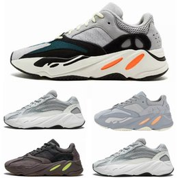 China 2019 Static 700 Wave Runner Running Shoes Men Women Salt Mauve Inertia 700 V2 Kanye West Designer Shoes Sport Sneakers With Box cheap sport runner shoes suppliers