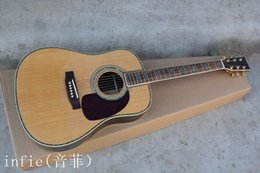 Acoustic guitAr hollow online shopping - Natural acoustic guitar inch Dreadnought acoustic guitar with Fisherman pickups guitar solid spruce top