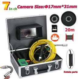 sewer video Australia - 7inch DVR 17MM Pipe Inspection Video Camera, 20M IP68 Waterproof Drain Pipe Sewer Inspection Camera System