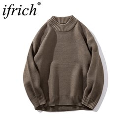 Discount sweater colors turtleneck - IFRICH Mens Sweaters Knitted Pullover Winter New Arrival Fashion Turtleneck Jumepr Man Thick Clothes Tops Hots 3 Colors