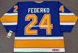 $enCountryForm.capitalKeyWord Australia - custom Mens BERNIE FEDERKO St. Louis Blues 1989 CCM Jerseys Vintage Cheap Retro Hockey Jersey