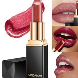 $enCountryForm.capitalKeyWord Canada - Professional Lip stick Makeup Waterproof Long Lasting Pigment Matte Nude Pink Red Black Mermaid Shimmer Lipstick Luxury Makeup