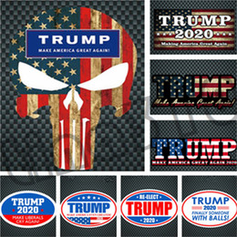 Wholesale Car Stickers NZ - Fashion color multi-style high quality Reflective Wall Stickers New hot-selling TRUMP 2020 sticker Car sticker T9I001