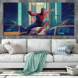 $enCountryForm.capitalKeyWord Australia - Spider-Man Movie Canvas Posters Home Decor Wall Art Framework 3 Pieces Paintings For Living Room HD Prints Pictures