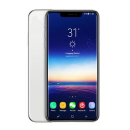 Cell phone usb mp3 online shopping - Goophone inch XS MAX Unlocked Cell Phone Andorid MTK6580 GB GB Face ID Support Wireless Charger WIFI Bluetooth Mobilephone