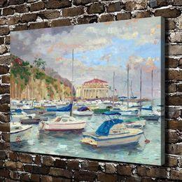 $enCountryForm.capitalKeyWord Australia - Catalina Marina Scenery,Home Decor HD Printed Modern Art Painting on Canvas (Unframed Framed)