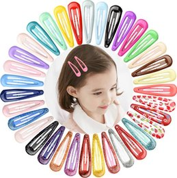 oil painting jewelry Australia - New Mixed Candy Color Children Hair Clips Basics Drop Oil Macarons Paint Side Hair Pins Barrettes Girls Kids Jewelry Hair Accessory Gifts