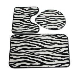 $enCountryForm.capitalKeyWord UK - 3 pcs set Zebra Striped Bathroom Rugs Soft Floor Mat for Toilet Seat Cover Mat Modern Toilet Mat Set Bathroom Carpet WC Rugs