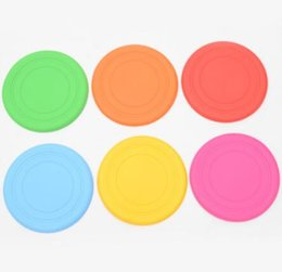$enCountryForm.capitalKeyWord Australia - Pet Dog Bite Resistant Frisbee Disk Soft Silicone Flying Disc Pet Toy Training Silicone 6 Color Selection Quickily Delivery