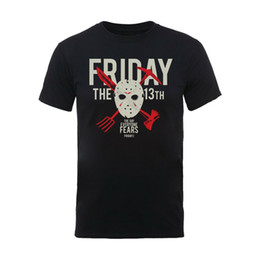 Free Jason Mask UK - Friday the 13th Jason Voorhees Hockey Mask Official Tee T-Shirt Mens Men Women Unisex Fashion tshirt Free Shipping