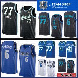 2019 new 6 Kristaps   Porzingis Dallas Jersey Mavericks 77 Luka  Doncic 41  Dirk   Nowitzki Basketball Jerseys cbe3a4647