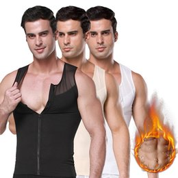 corset training for men Australia - Men Shaper Corset Slimming Waist Trimmer Zipper Body Shapers Solid Training Control Belly Tops Abdominal Vests For Female