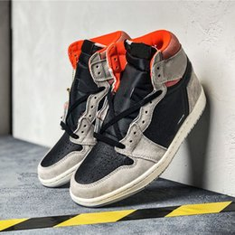 $enCountryForm.capitalKeyWord NZ - New Suede Sneakers 1s High OG Neutral Grey Basketball Shoes for Men Hot Sale Sport Shoes Casual Trainers Trending Sneakers Size 40-45