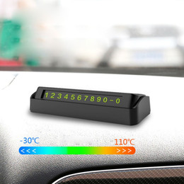 Displaying boarD online shopping - Luminous Display Car Parking Phone Number Card Rotatable Vehicle Stickers Car Stop Sign Board New
