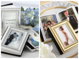 photo place card holders UK - Wedding favors of Little Book of Memories Place card Holder and Mini Photo Album For Unique wedding photo album and birthday gift 10Pcs lot
