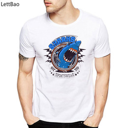 $enCountryForm.capitalKeyWord NZ - Casual Funny T Shirts Hungry Angry Shark Sports Wear TShirt Cotton White T Shirt Youth Short Sleeve Graphic Tees Men Fashion New