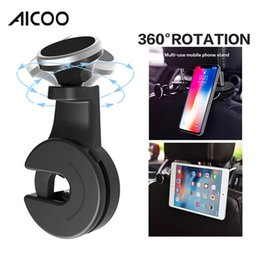 Back Seat Tablet NZ - Aicoo Universal 360 Degree Back Seat Magnetic Car Phone Holder Phones Tablet Mobile Rotatable Car Headrest Stand Bracket retail package