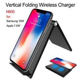 foldable charger 2019 - N600 7.5W foldable stand for iPhone x   XS MAX 8 8 plus wireless charger for Samsung S10 10W USB quick charger discount
