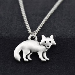 $enCountryForm.capitalKeyWord NZ - Vintage Stainless Steel Long Chain Fairy Fox Charm Pendant Fashion Necklace Men Cute Animal Necklaces For Women Girls Party Accessories