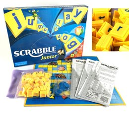 Spelling toyS online shopping - Junior SCRABBLE Fun word Puzzle Fun word Game Multi person interaction Educational Toys Party Crossword spell Game