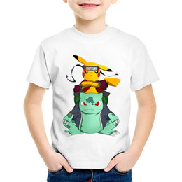 34c4ff2ae Children Anime Print Naruto Pikachu In Thor Armo Funny T-shirts Kids Summer  Tees Boys Girls good Go Tops Baby Clothes,HKP5069