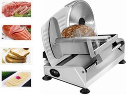 Wholesale 110V V W electric Slicer Household Lamb slice meat Slices of bread Hot Pot Desktop Meat cutting machine LLFA