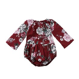 $enCountryForm.capitalKeyWord UK - 2018 Adorable Baby Kids Girls Rompers Cotton Floral Printed Long Sleeve Jumpsuit Romper