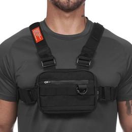 venda por atacado Mens Casual Sports Outdoor Packs Ciclismo sacos impermeáveis Shoulder Duplo Multi-funcional Correndo Peito Package Mountaineer Bolsa Para Mulheres