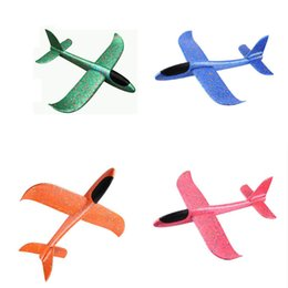 Discount gliders airplane toys - 4 colors 48cm Foam Throwing Glider Airplane Inertia Aircraft Toy Hand Launch Airplane Model Kids Toy Gift Decompression