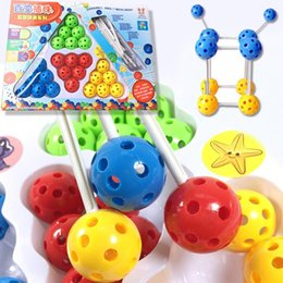 Alphabet Games Australia - Cartoon Educational Balls Rods Inserting Assembly Puzzle Toys Kids Game New Fashion Kids Puzzle Toys
